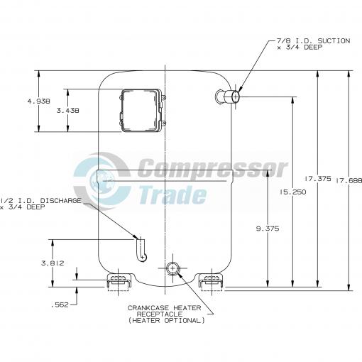 Холодильный компрессор герметичный поршневой Bristol H29A 723 DBEA