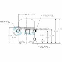 Холодильный компрессор герметичный поршневой Bristol H7BG 124 DBEE