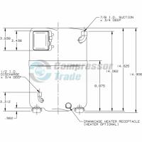 Холодильный компрессор герметичный поршневой Bristol H73A 463 DBEA