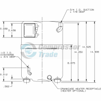 Холодильный компрессор герметичный поршневой Bristol H73A 383 DBEA