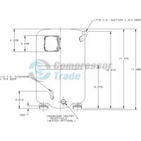 Холодильный компрессор герметичный поршневой Bristol H79A 623 DBVA