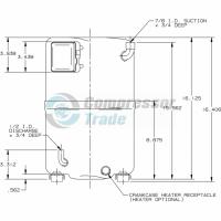 Холодильный компрессор герметичный поршневой Bristol H73A 543 DBEA