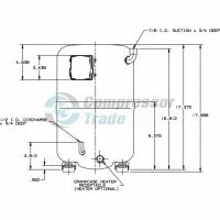 Холодильный компрессор герметичный поршневой Bristol H79A 723 DBVA