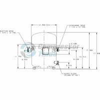 Холодильный компрессор герметичный поршневой Bristol H7BG 094 DBEE