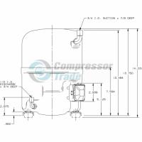 Холодильный компрессор герметичный поршневой Bristol H29B 26U ABHA