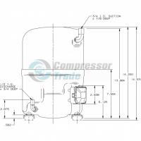 Холодильный компрессор герметичный поршневой Bristol H29B 35U ABHA