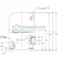 Холодильный компрессор герметичный поршневой Bristol H29B 30U ABHA