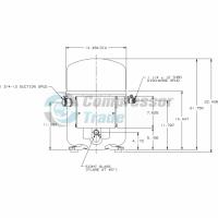 Холодильный компрессор герметичный поршневой Bristol H7NG 204 DREF