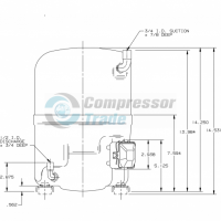 Холодильный компрессор герметичный поршневой Bristol H29B 32U ABHA