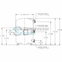 Холодильный компрессор герметичный поршневой Bristol H25G 094 DBVE